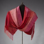 gradients in red shawl