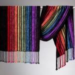rainbow rayon chenille shawl