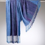 Surreal rayon chenille shawl