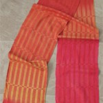 autumn silk handwoven scarf with rust