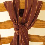 handwoven brown silk scarf with sequins