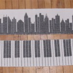 handwoven skyline and keyboard scarves