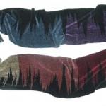rayon chenille rainbows handwoven scarf