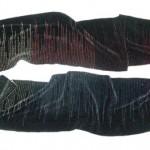 handwoven rayon chenille rainbows scarf