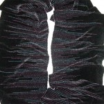 handwoven rayon chenille scarf