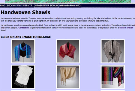 website, shawls