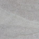handwoven white mohair scarf