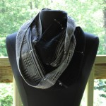 handwoven lace scarf with beads