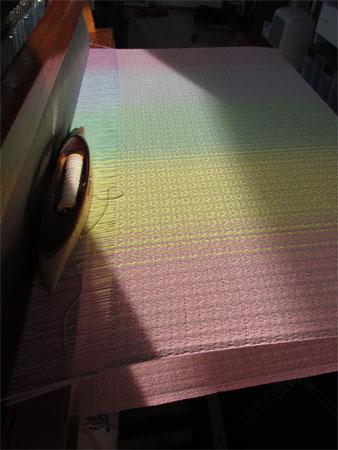 LV's handwoven baby wrap