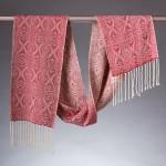 handwoven Xs silk scarf