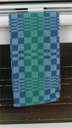 blues & greens towel, darker