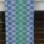 blues & greens towel, lighter
