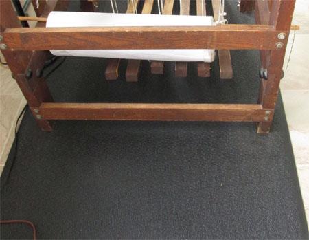 home gym mat to loom mat