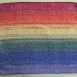 rainbow placemat, light