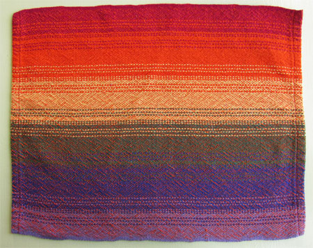 rainbow placemat orange