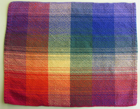 rainbow plaid placemat