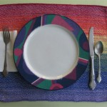 rainbow yellow placemat