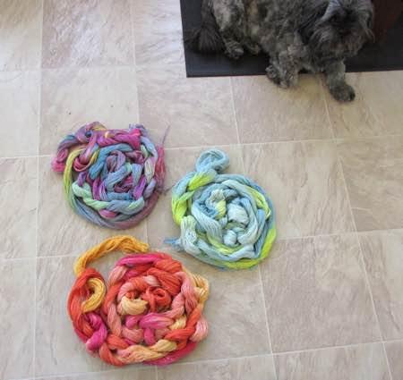 new hand painted silk yarn