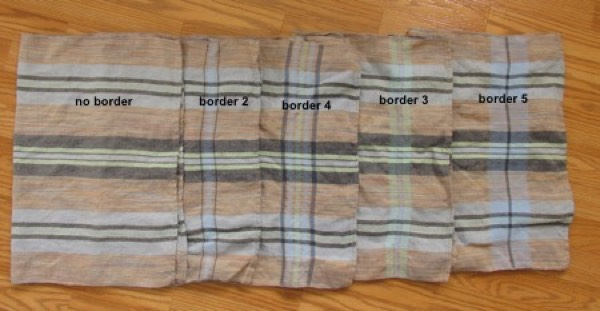 linen towels with borders