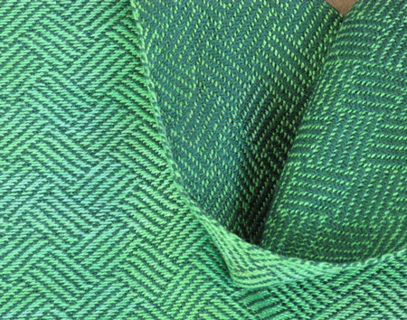 HP braided twill green, close
