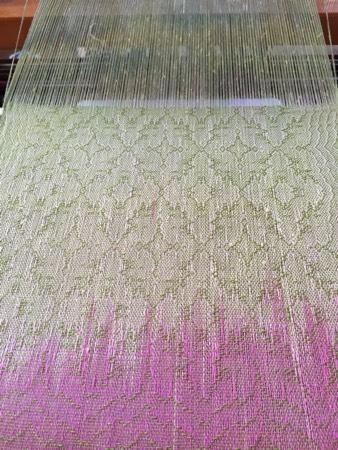 HP silk warp, cashmere-silk weft