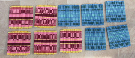 2nd attempt at rep weave mug rugs