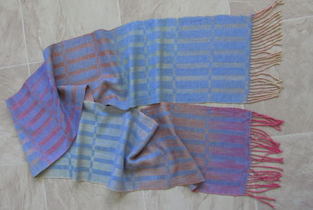 Hand painted silk scarf-stormy sunset