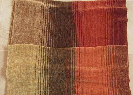 rayon chenille earth tones shawl comparison