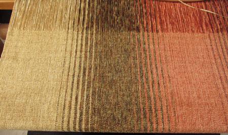 rayon chenille shawl: Earthtones
