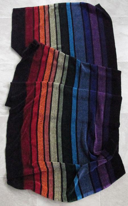 rayon chenille rainbow shawl