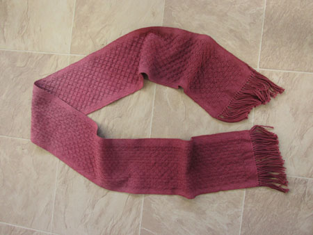 red ombre scarf done