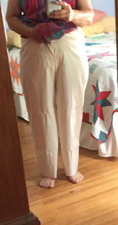 muslin pants front