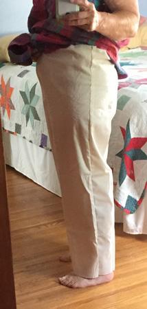 muslin pants side