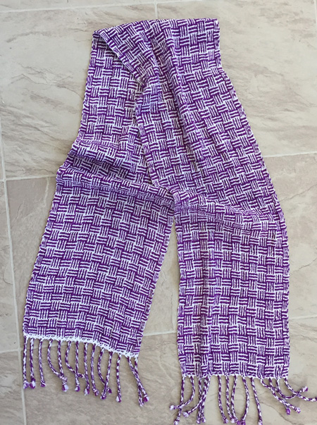rayon and rayon chenille scarf