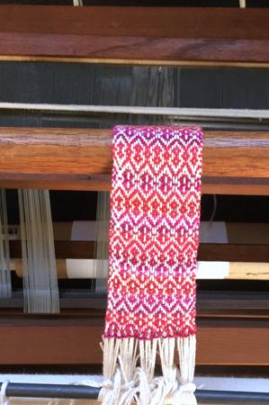 bookmark warp on Missouri loom