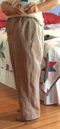 handwoven pants from the side