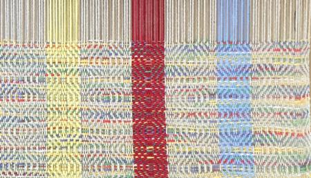 handwoven Cheryl towel, Ms & Ws weave