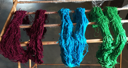 immersion dyed skeins