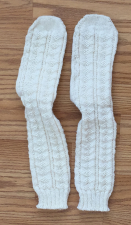 white knit socks