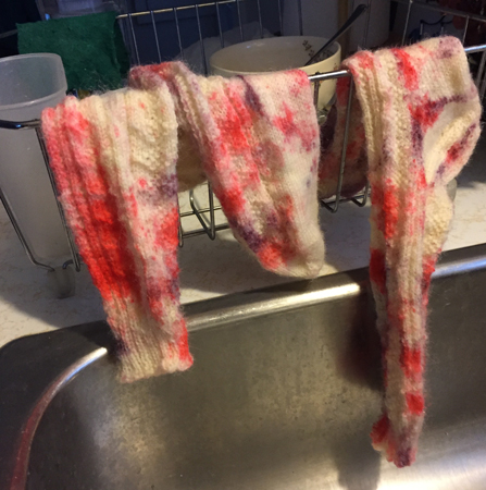 socks speckle dyed