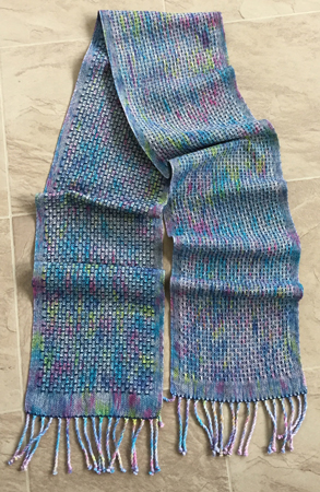 northern lights speckle scarf