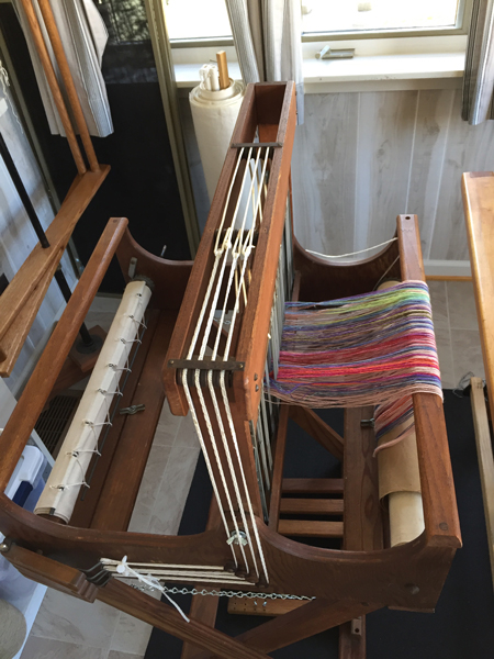 Missouri loom set up for supplemental warp