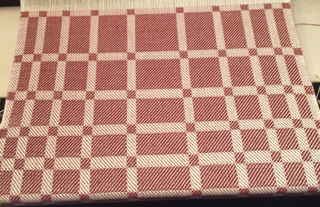 twill block towel pattern