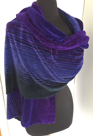 A-H shawl, wrapped