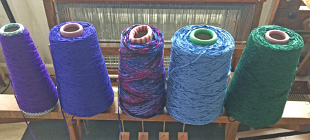 yarn line up without aquamarine