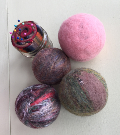dryer balls & pincushion 2