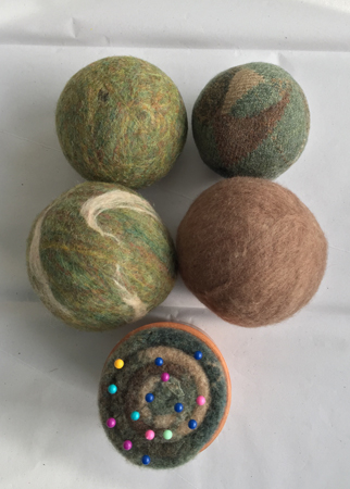 dryer balls & pincushion 1