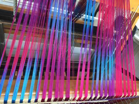 beaming HP rayon shawl