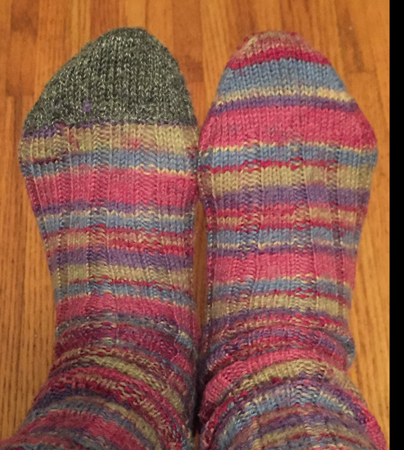 re-knit toe