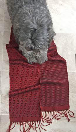 red & black scarf done
